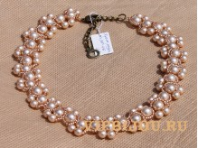 Ожерелье Крем-роза