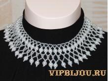 Ожерелье Нежность белая