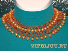 Ожерелье Нежность оранжевая