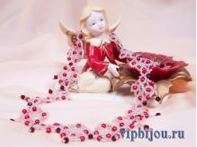 Ожерелье Рубиновые капли