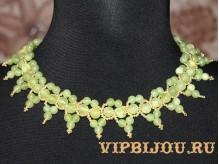 Ожерелье с ониксом зеленым