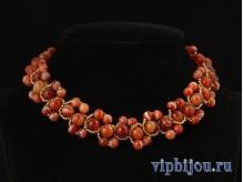 Ожерелье с сердоликом