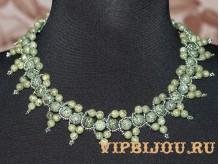 Ожерелье со змеевиком