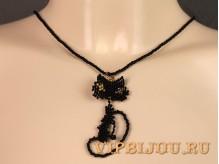 Кулон Черная Кошка
