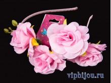 Ободок Цветочный шик