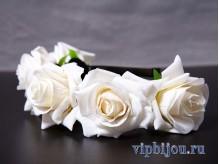 Ободок Венок из белых роз